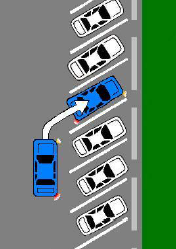 Angled parking