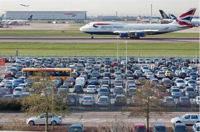 Comparing London airport car parking
