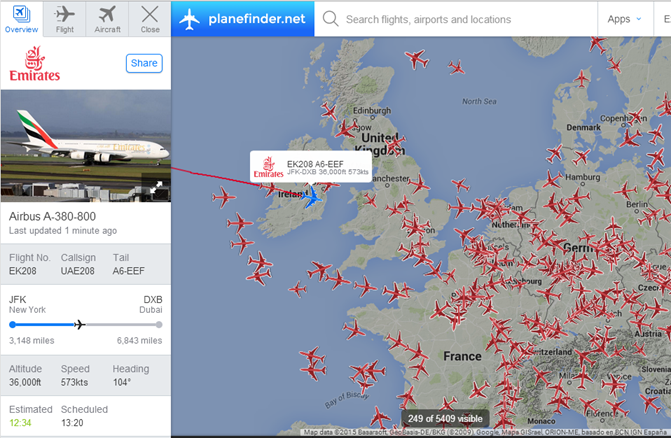 further live flight tracking